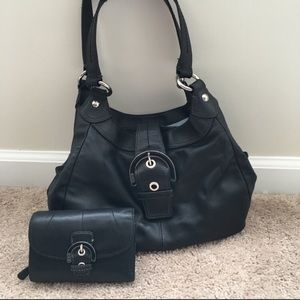 Coach Black Purse and Matching Wallet
